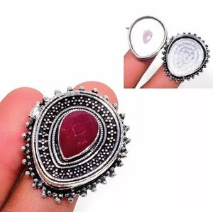 Brand New Ruby Poison Silver Ring. Size 6.25